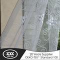 de alta calidad en caliente de la venta popular de flores bordado elegante rusia cortina de la ventana modelo