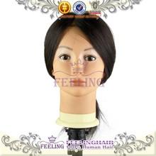 Venta al por mayor de alta calidad cabezas de maniquíes con pelo en la venta