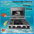 la buena voluntad 7 pulgadas lcd monitor de vídeo y grabación de vídeo de pesca submarina cctv cámara digital