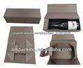 Caja de papel del vino plegable para el champan
