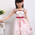 verano 2013 Corea del vestido sin mangas del bordado con la mariposa y de la flor para los niños tta10210