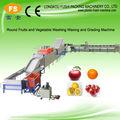 De alta calidad de la fruta& vegetales de lavado y encerado de la máquina de clasificación