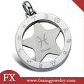 significativa de la joyería al por mayor de acero inoxidable horóscopo del zodiaco colgante signo del zodiaco colgante