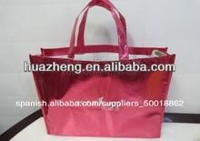 rojo de papel de aluminio bolsas forradas de fabricación en china