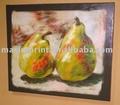 venta al por mayor de alta resolución de frutas pera pintado a mano de arte fino lienzo impresiones