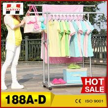 Un solo polo de artículos para el hogar venta al por mayor al aire libre ropa telescópica rack de secado 188a-s