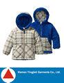 mais recente moda reversível infantil menino inverno infantil casaco