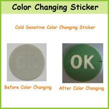 OEM de temperatura del cambio del color Etiqueta