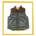 2014 los bebés varones de verificación acolchado chaleco con capucha para niños chaleco con capucha