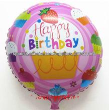 feliz cumpleaños diseños globo de la hoja