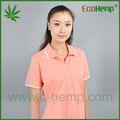 nuevo diseño rosado cáñamo camisa polo de algodón orgánico para las mujeres