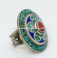 tibetana turquesa plata hechos a mano el anillo