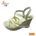 2014 quente- venda de madeira de moda forma fivela outsole sandálias da senhora
