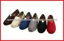 Plain dyed colorful canvas shoes