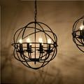 vintage colgante de luz redonda estilo loft industrial