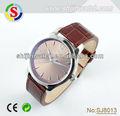 buena calidad caliente venta buen regalo para los hombres de acero inoxidable de cuero genuino reloj de los hombres