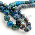 Mejor calidad de 12mm azules imperiales cuentas de jaspe para la fabricación de joyas