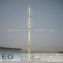 gsm octogonal de acero monopolo telecomunicaciones