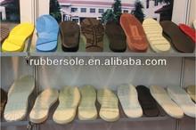 2015 espuma eva colorido de suela de goma agradable para los zapatos para correr& calzado casual en dongguan fabricante