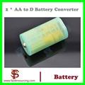 Caso los titulares de adaptador convertidor de la batería 2 pcs AA de tamaño D