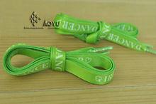 cordones de los zapatos con logotipo personalizado de impresión por sublimación