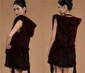diseño casual real de piel de visón chaleco de china