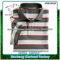 Estilo casual Polo para hombres Algodón Pique de hilo teñido color gris y blanco Polo