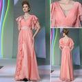 2014 real de la muestra nueva moda completo la figura de volantes de color rosa a largo halloween niñascargan 30890