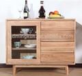madera maciza de roble gabinete de exhibición