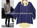 Moda 2 piezas sueltas de ocio casual corto sleevet- camisas + bate de la mujer chaleco
