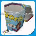 hexagonal decorativa caja de cartón