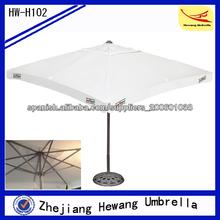 2014 2.5 * 2.5 m jardín poliéster cuadrado paraguas sombrilla de jardín