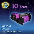 La última uv de cama plana de la impresora para el precio de la impresora uv1313, seiko o la cabeza de ricoh
