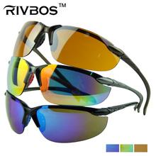 colorido gafas de ciclismo con el logotipo de la lente