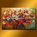 moderna hecha a mano decoración tradicional de diseño de la flor de la pintura