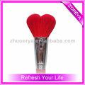 la mejor calidad de pelo de cabra cosméticos de la cara del cepillo con forma de corazón de pelo