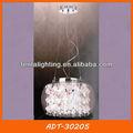 Cáscara de la lámpara colgante de vidrio pantalla de la lámpara con el cristal adt-30205