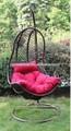 nuevo jardín muebles de mimbre al aire libre de hierro silla del oscilación más de veinte años de experiencia de fabricación