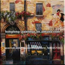 Neo- clásico paisaje urbano de pinturas al óleo pintura sobre lienzo hf-2012030148