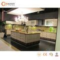 Gabinete de cocina de acrílico con panel de la puerta, pared de la cocina del gabinete colgante