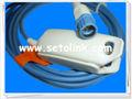 Siemens resuable adultos suave- spo2 sensor de dedo, 10ft, 7 pin, sc6002xl, 7000, sc8000, sc9000xl