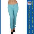 2013 skinny jeans para mujeres largo delgado del spandex colores vaqueros (JXC29832) de color