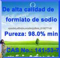 De alta calidad de formiato de sodio 98% 141-53-7 Sal orgánica del sodio