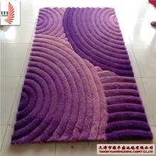 SGS shaggy carpet2014 poliéster de seda produzidos recentemente quartos nova decoração artesanais tapetes de seda da China