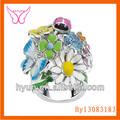 diamante de gallo anillo anillo de diamantes para los chicos de diamante anillo para las niñas