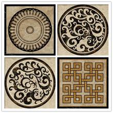 Turquía Diseño de mármol de chorro de agua de mármol patrón medallón medallón de mármol