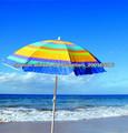 colorido playa raya sombrilla lateral con alta calidad