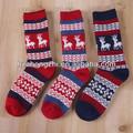personalizada niña de punto de lana de navidad calcetines de invierno