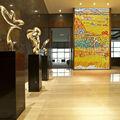 valor artístico de mosaico de vidrio de gran tamaño mural de la pared de van gogh campo de trigo patrón de vidrio