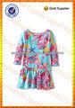 Petit enfant 3/4 manchon complet imprimé en jersey de coton de mode robe d'été